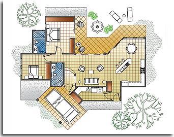 plan maison espagnole gratuit