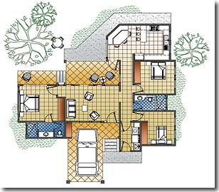 Altos de antigua pre designed homes for Casa con lavadero